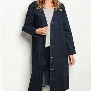 Jackets & Blazers - Denim duster/coat. New/no tags